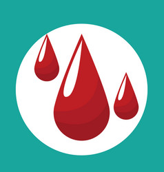 drop blood donate icon vector image vector image