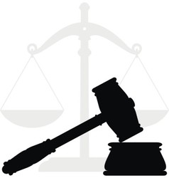 gavel and scales vector image vector image