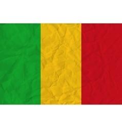 Mali paper flag vector image vector image
