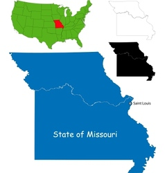 Missouri map vector image vector image