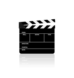 Movie film clapper board isolated vector image