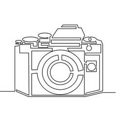 one line drawing of camera black image isolated vector image
