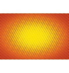 Orange light raster pop art retro background vector