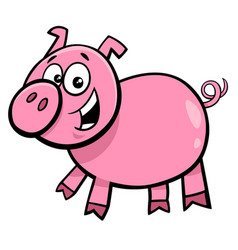 pig or piglet character cartoon vector image vector image