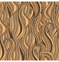Seamless wave hand-drawn pattern brown waves vector image