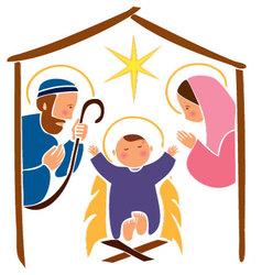 Baby Jesus in a manger 7 vector image vector image