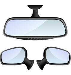 Car mirror set vector image vector image
