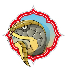 Chinese snake vector image vector image