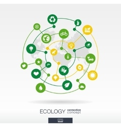 Ecology connection concept Abstract background vector image vector image