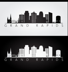 Grand rapids usa skyline and landmarks silhouette vector