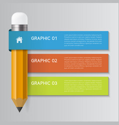 Infographic pencil concept vector