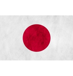 Japanese grunge flag vector image vector image