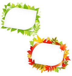 Leafs And Blank Gift Tag vector image vector image