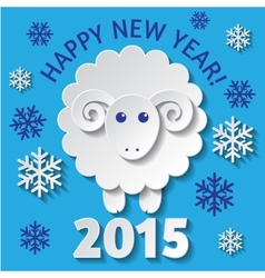 New Year card with a Sheep vector image