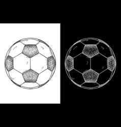 soccer ball hand drawn sketch vector image