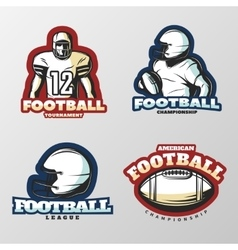 American Football Tournaments Logos vector image