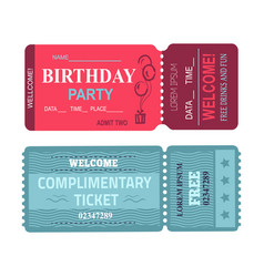 birthday party welcome set vector image
