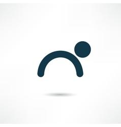 gymnast icon vector image