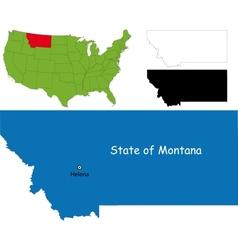 Montana map vector image