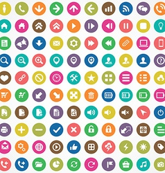 100 UI Icons For Web and Mobile vector image