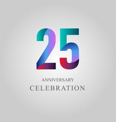 25 year anniversary celebration template design vector