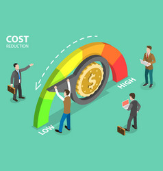 3d isometric flat concept cost reduction vector