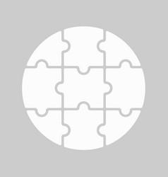 9 round puzzle vector