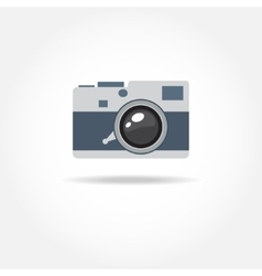 Abstract camera logo logotype design vector