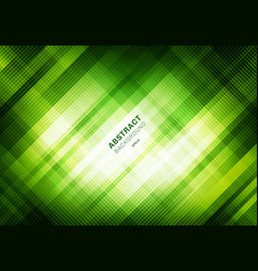 Abstract striped green grid pattern with lighting vector