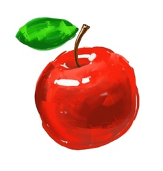 Apple hand drawn painted vector