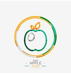 Apple logo concept stamp vector image