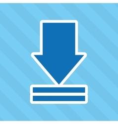 Arrow download design vector