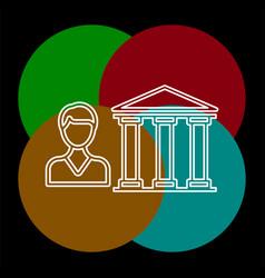 banking loan icon vector image