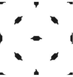 banner or label pattern seamless black vector image