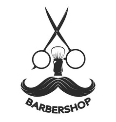 barbershop symbol mustache vector image