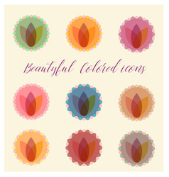 Beautiful color badges vector