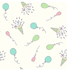 birthday party seamless pattern with balloons vector image