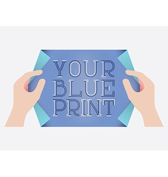 Blue Print vector