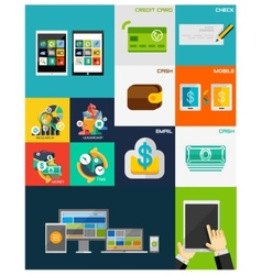 Business Finance flat concepts vector image