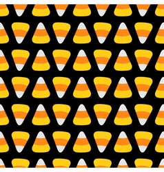 Candy corn food line Happy Halloween Seamless vector