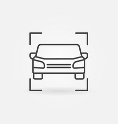 car line icon or symbol vector image