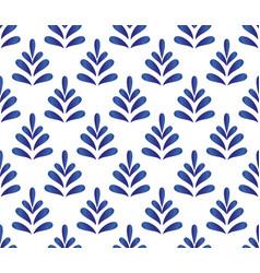 Ceramic blue pattern vector