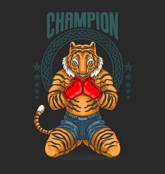 champion fighter prepare for battle vector image