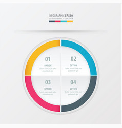 circle presentation template yellow blue pink vector image
