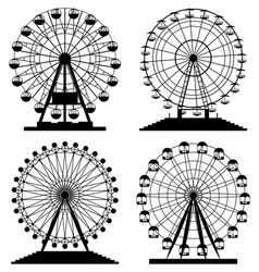 collection park ferris wheels vector image