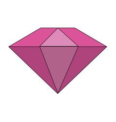 Colorful diamond stone cartoon vector