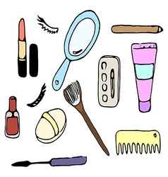 cosmetic for woman vector image