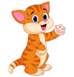 Cute baby cat cartoon vector