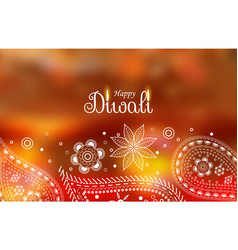 diwali greeting wallpaper with paisley decoration vector image