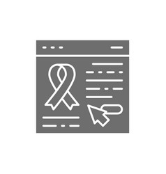 donation website web page with awareness ribbon vector image
